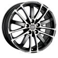 ATS X-Treme 7,5x17 5x108 ET45 70,1 Racing Black Front Polished