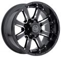 Black Rhino SIERRA 9x20 5x150 ET12 110,1 Gloss Black With Milled Spokes